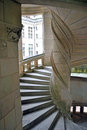 Spiral stairs in castle the the of chambord france Royalty Free Stock Photo