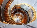 Spiral stairs inside of the house Royalty Free Stock Images