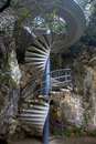 Spiral stairs landscape  Royalty Free Stock Images