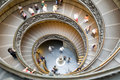 Spiral stairs in vatican Stock Image