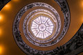 Spiral stairs of the Vatican Museum Royalty Free Stock Photo