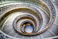 Spiral stairs in vatican old the museums Stock Photos