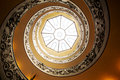 Spiral stairs in Vatican Royalty Free Stock Photo