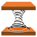Spiral on a stand illustration of wooden white background Stock Photo
