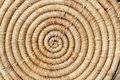 Spiral straw mat background a of a closeup Stock Photo
