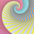 Spiral stripes Stock Photography