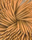Spiral of toothpicks Royalty Free Stock Photo