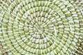 Spiral woven straw texture background Royalty Free Stock Photo