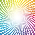 Spirale Pattern Rainbow Colored Tube Dots Infinity Royalty Free Stock Photo