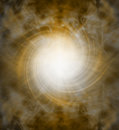Spiraling golden white light vortex background Royalty Free Stock Photo