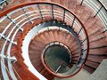 Spiraling Staircase Seen  From Above Royalty Free Stock Photo
