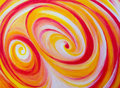 Spirals orange and yellow on canvas Stock Image