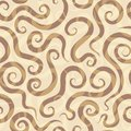 Spirals sand seamless pattern eps Royalty Free Stock Image