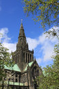 Spire of glasgow cathedral also called the high kirk or st kentigern s or st mungo s church scotland Stock Image