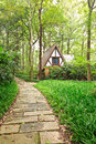 Spire of the house in the forest forest,in hangzhou Stock Photography