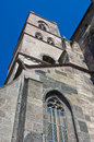 Spire of the st stephansmünster breisach baden wuerttemberg germany stephan s cathedral from below Royalty Free Stock Images