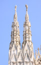 Spires of the cathedral of Milan Stock Photography