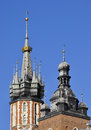 Spires of church towers Royalty Free Stock Image