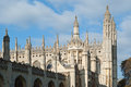 Spires of the king s college building in cambridge uk Royalty Free Stock Photos
