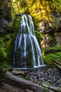 Spirit Falls cascading waterfall in Oregon of the pacific northwest Royalty Free Stock Photo