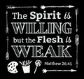 The Spirit is Willing but the Flesh is Weak