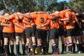 Spirito di squadra di rugby Immagini Stock Libere da Diritti