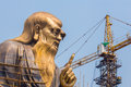 The spiritual creator of daoism laozi under construction laoshan china a huge m statue Stock Images