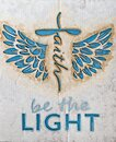 Spiritual guidance, Angel wings of light and love, canvas Royalty Free Stock Photo