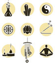 Spirituality icon set Royalty Free Stock Photos