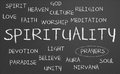 Spirituality word cloud Royalty Free Stock Images