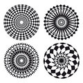 Spirograph ornament tattoo Royalty Free Stock Photo