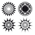 Spirograph ornament tattoo design elements Royalty Free Stock Photo