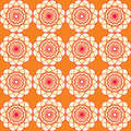 Spirographic orange seamless background this is file of eps format Stock Photography