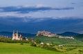 Spisska kapitula kapituila and castle spissky hrad at spis region Stock Images