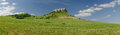 Spissky castle slovakia panoramic view of in europe Stock Photos
