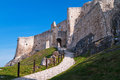 Spissky hrad castle view at at spis region slovakia Stock Image