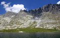 Spisskych plies tarns in high tatras slovakia mountains Royalty Free Stock Photo