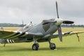 Spitfire fighter duxford uk july world war vintage british plane at duxford flying legends airshow Stock Images