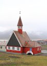 Spitsbergen the world s northernmost church wooden svalbard built in is located in longyearbyen norway it is part of of norway and Royalty Free Stock Image
