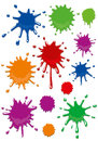 Splash abstract and fun illustration Royalty Free Stock Photography