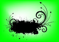 Splash banner floral element green background Royalty Free Stock Photography