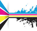 Splash cmyk line arrow background a Stock Photos