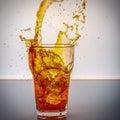 Splash of Cola Royalty Free Stock Photo