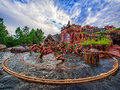 Splash mountian a fisheye view of mountain Stock Images