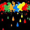 Splash paint represents blots backgrounds and blotch background showing colors spatter Royalty Free Stock Photography