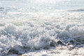 Splash of seawater with sea foam and waves Royalty Free Stock Images