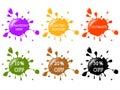 Splash stickers Royalty Free Stock Photo