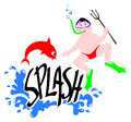 Splash sub Royalty Free Stock Photography