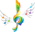 Splash treble clef and musical note Royalty Free Stock Photo