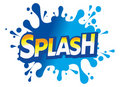 Splash water drop logo icon